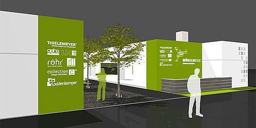 m belmeile gemeinschaftsstand mit neuem lounge bereich. Black Bedroom Furniture Sets. Home Design Ideas