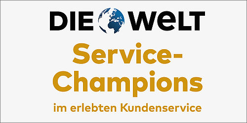 die welt service champions 2016. Black Bedroom Furniture Sets. Home Design Ideas