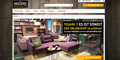 die w scherei jetzt auch mit online shop. Black Bedroom Furniture Sets. Home Design Ideas