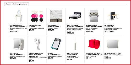 ikea benennt m bel nach beziehungsproblemen. Black Bedroom Furniture Sets. Home Design Ideas