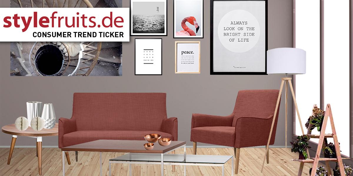 Stylefruits.de Consumer Trend Ticker   Mit Der Trendfarbe Marsala Vom  Laufsteg Ins Wohnzimmer   Moebelkultur.de