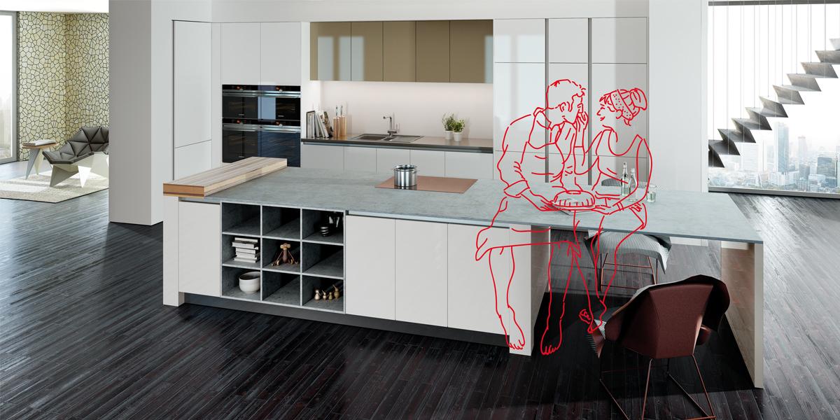 Rotpunkt Küchen rotpunkt küchen grüne welle mit pfleiderer platte moebelkultur de