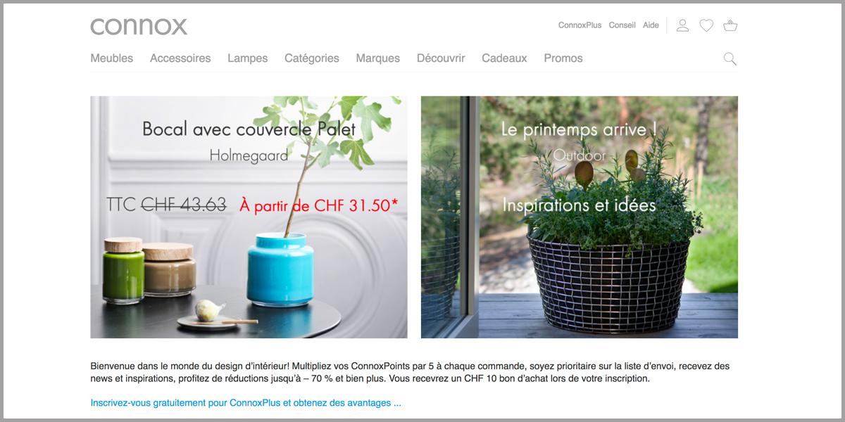 connox launcht subdomain des schweizer shops. Black Bedroom Furniture Sets. Home Design Ideas