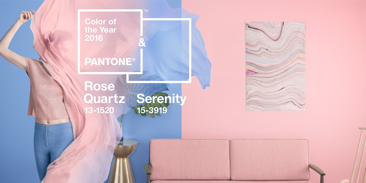 pantone serenity und rose quartz sind die farben des jahres 2016. Black Bedroom Furniture Sets. Home Design Ideas