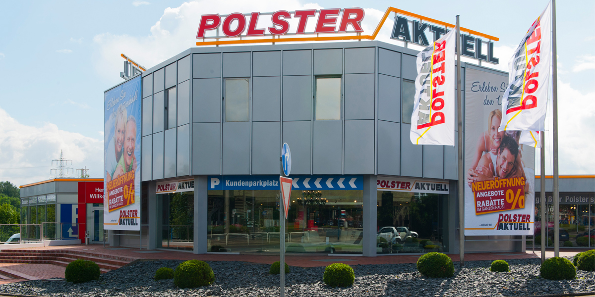 Polster aktuell achte filiale in essen er ffnet for Polster outlet essen