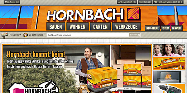hornbach online shop er ffnet. Black Bedroom Furniture Sets. Home Design Ideas