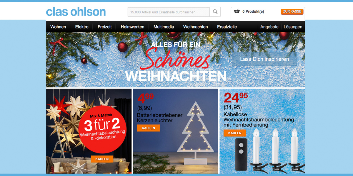 clas ohlson startet online shop f r deutschland. Black Bedroom Furniture Sets. Home Design Ideas