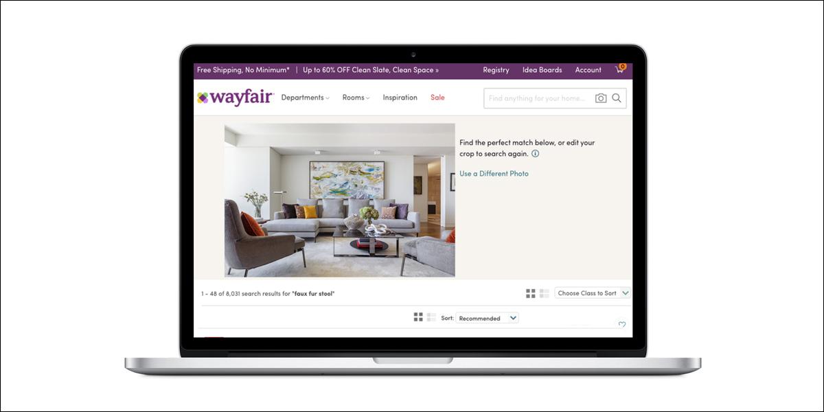 wayfair launcht visuelle suchfunktion. Black Bedroom Furniture Sets. Home Design Ideas