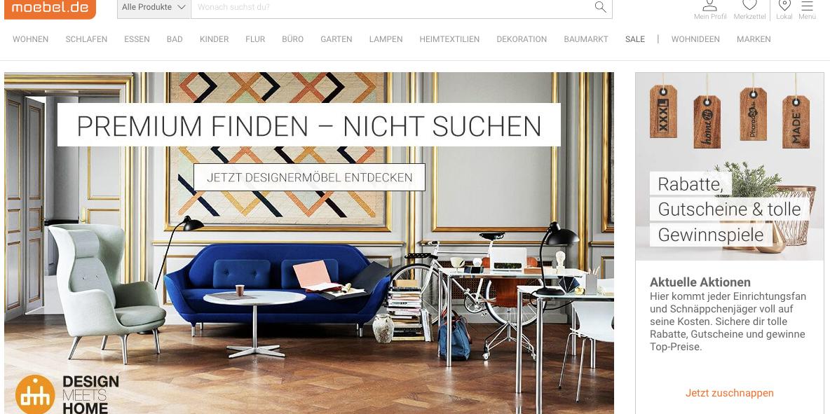 Design Meets Home - Vertriebskooperation mit moebel.de - moebelkultur.de